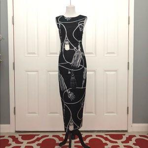 Dresses & Skirts - NWT Eclect Australia Black Tassel Print Dress XS